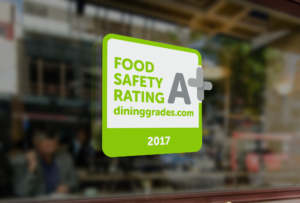 Food Safety Rating Window Decal