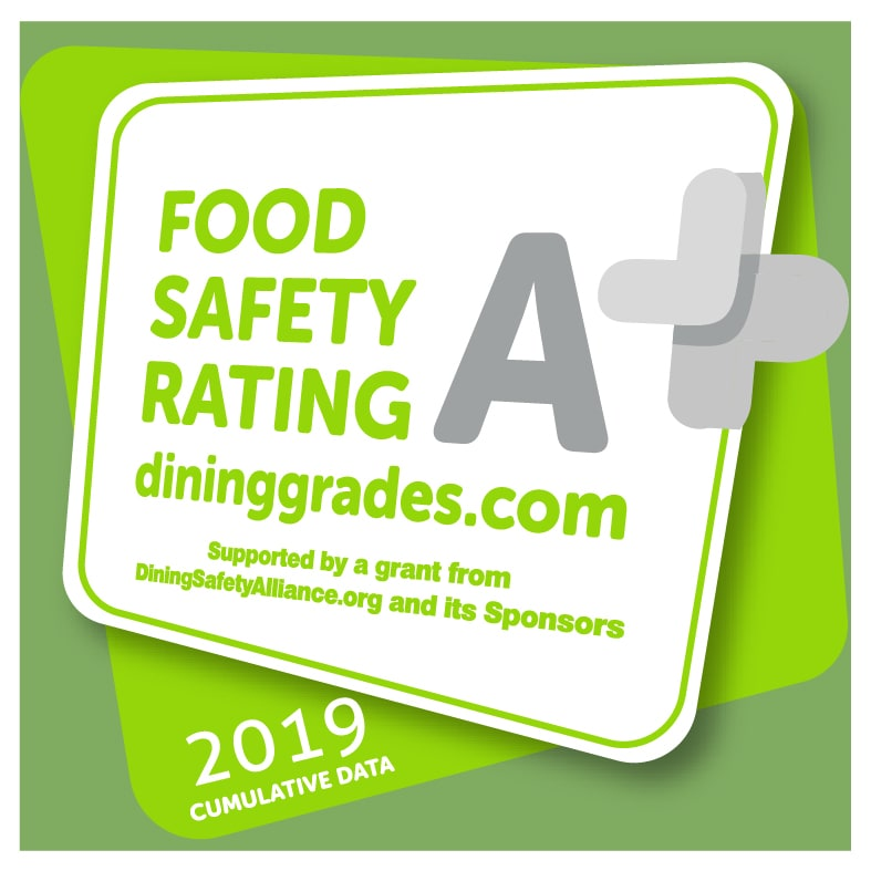 Claim a Food Safety A+ Decal helps consumers dine out with confidence