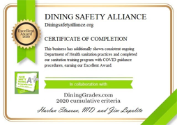 Earn a Dining Safety Alliance Certification and help the consumer dine out with confidence