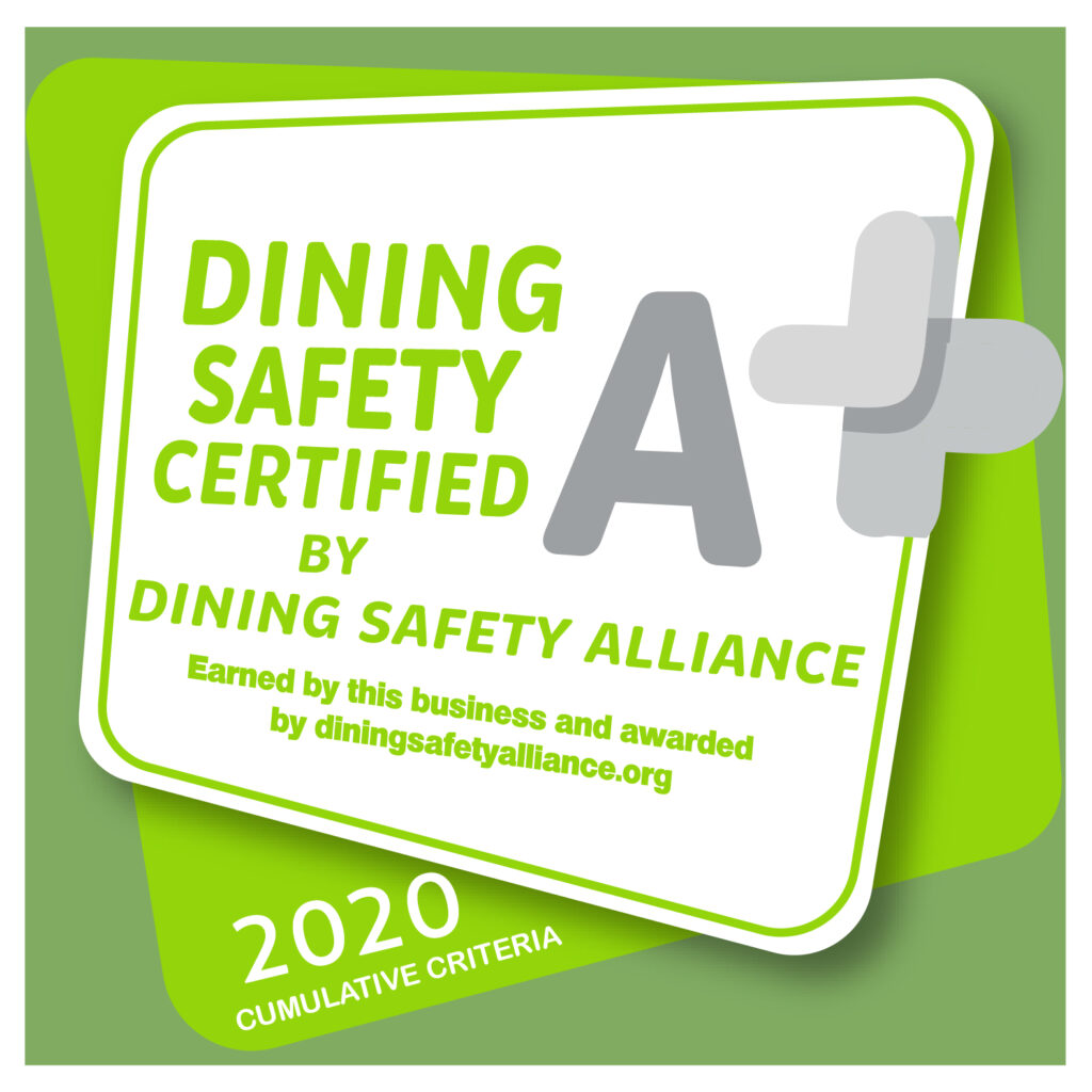 Dining Safety Alliance Window Decal