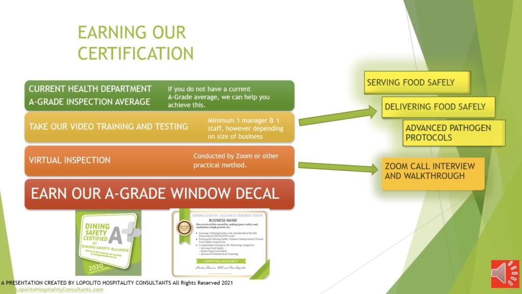 Dining Safety Alliance Certification Program